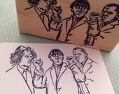 The Three Stooges Wood Mounted Rubber Stamp 4503