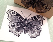 Peacock Butterfly Rubber Stamp by 100 Proof Press 3150