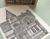 Big Victorian House Rubber Stamp 3291
