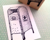 City Mailbox Wood Mounted Rubber Stamp 4664 S