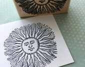 New Sun With Rays Rubber Stamp 5891