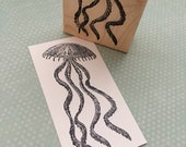 Jellyfish Wood Mounted Rubber Stamp 5401 Ocean Stamp Sea Stamp Animal Rubber Stamp Beach Stamp Travel Journal Stamp Sea Life Stamp