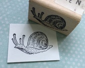Small Snail Rubber Stamp Snail Mail Stamp Animal Stamp Snail Stamp Small Animal Stamp Craft Stamp Pen Pal Stamp