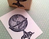 Globe Rubber Stamp 5307