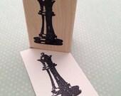 Queen Piece Wood Rubber Stamp 6532