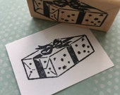 Present or Package Rubber Stamp 1728