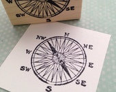 Basic Compass Rubber Stamp 1390