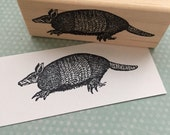 Armadillo Wood Mounted Rubber Stamp 672