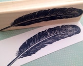 Large Feather Rubber Stamp 5837