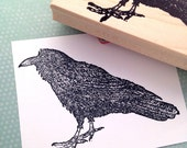 Large Raven Rubber Stamp 6484