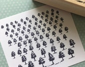 Tree Forest Rubber Stamp 5706