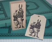 Dressed Rabbits Rubber Stamp 5017