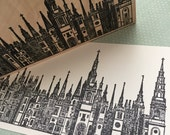 Long Tower Row Rubber Stamp 5391 Z