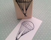 Little Parachute Guy Wood Mounted Rubber Stamp 1722