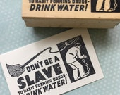 Drink Water Rubber Stamp 5086