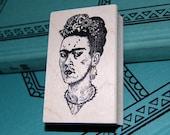 Frida Kahlo Wood Mounted Rubber Stamp