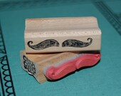 The Mustache Wood Mounted Rubber Stamp 3564