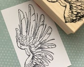 Right Bird Wing Wood Mounted Rubber Stamp 5890