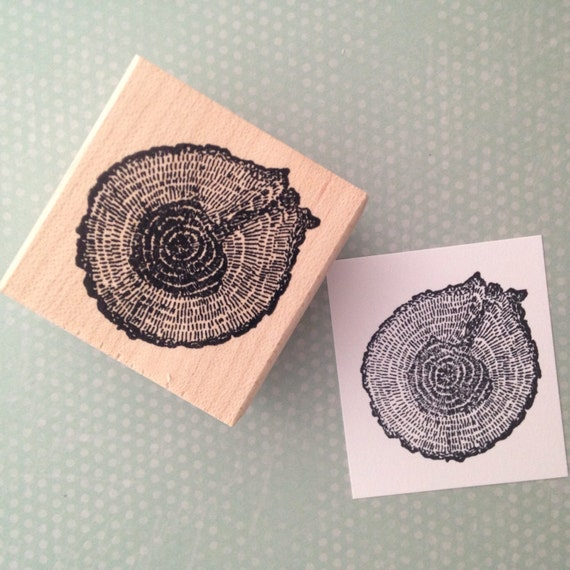 Cross Section of a Tree Rubber Stamp 5289