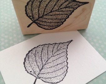 Birch Leaf Rubber Stamp for Journaling, Card Making, Scrapbooking 2962