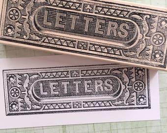 Large Letter Slot Rubber Stamp 4103