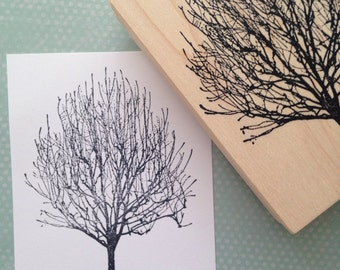 Bare Winter Tree Rubber Stamp, Journal Stamp, Nature Stamp 3265