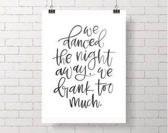 Printable Wall Art PDF - James Arthur - Say You Won't Let Go Lyrics