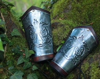 Assassin's creed metal and leather bracer