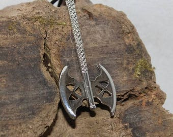Dwarven axe, Sterling Silver Pendant