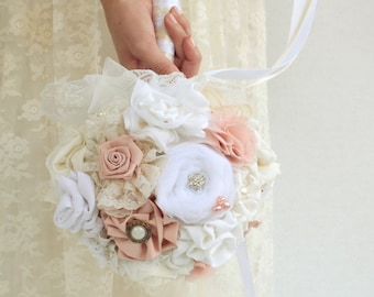 White blush wedding bouquet custom bouquet