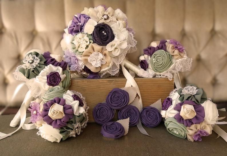 0f152a7bec30d Wedding bouquet set matching men buttonholes bridal | Etsy