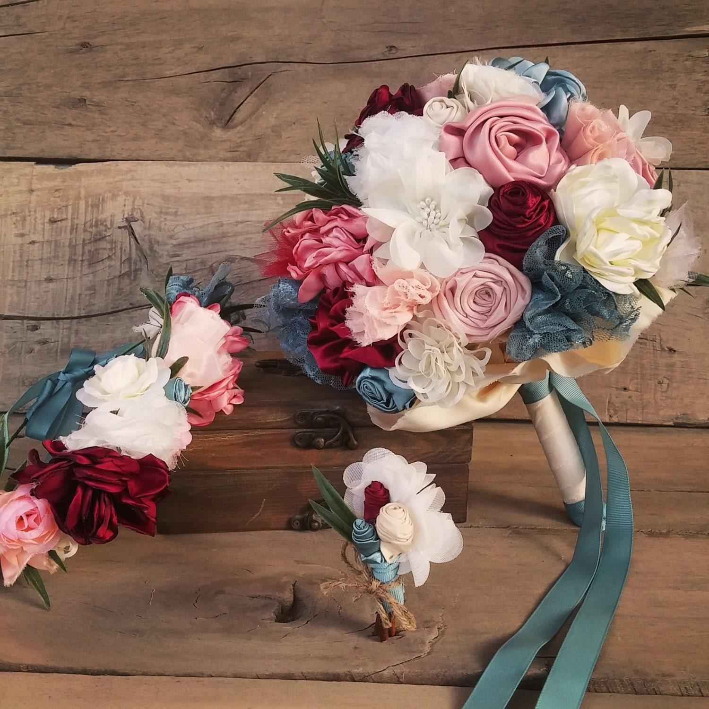 Boho bridal bouquet head flower crown men boutonniere etsy zoom izmirmasajfo