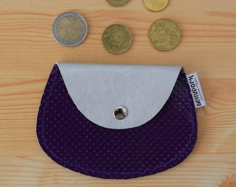 Leather coin purse,leather change purse,purple coin purse,change purse leather,silver coin purse,womens coin purse,minimal purse,patent
