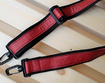 Red strap,leather straps,leather replacement,crossbody straps,replacement strap,leather purse strap,nylon strap,red leather strap
