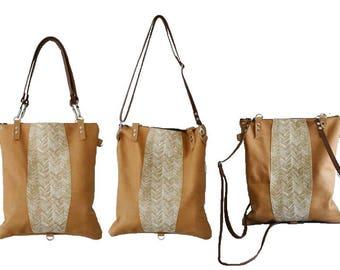 Convertible backpack,convertible purse,convertible tote,leather backpack,leather tote bag,leather purse,brown leather purse,snake tote bag