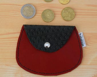 Leather coin purse,leather change purse,elephant coin purse,change purse leather,red coin purse,womens coin purse,minimal purse,elephants