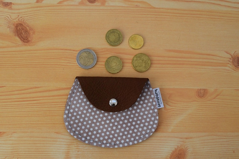 Leather coin purseleather change pursesuede coin image 0