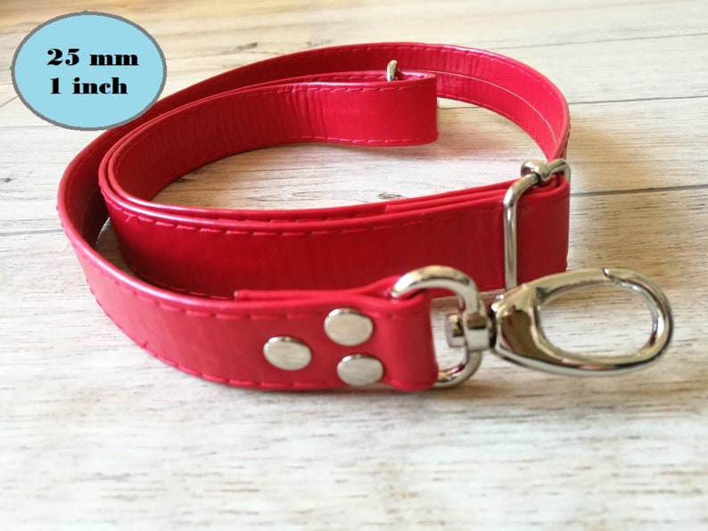Leather purse strapleather strapspurse strapsred strapwide image 0