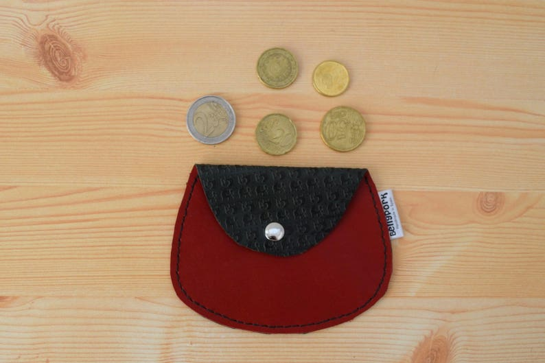 Leather coin purseleather change purseelephant coin image 0