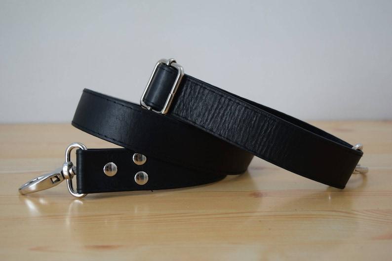 Leather purse strapleather strapspurse strapsblack image 0