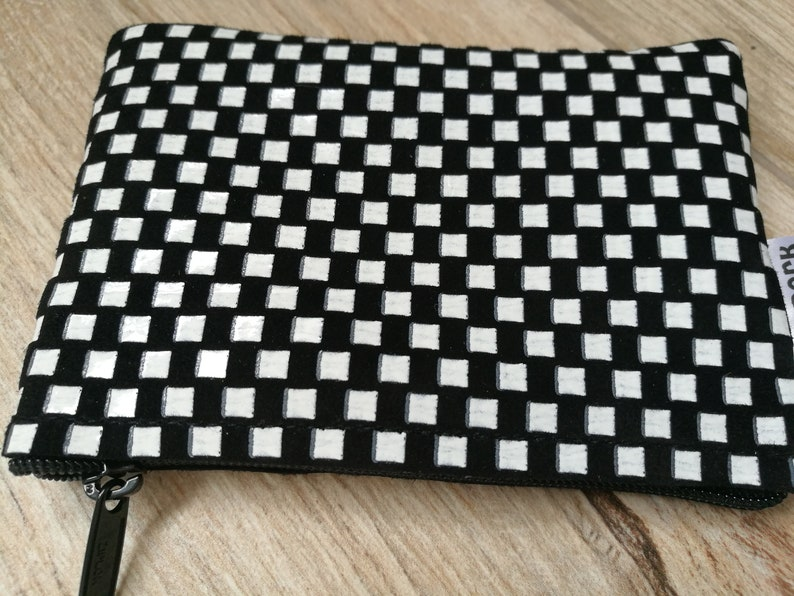 Leather change pursecheckerboard purseblack and image 0