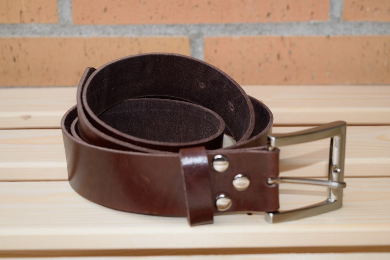 Leather beltbrown leather beltgenuine leather beltmens image 0