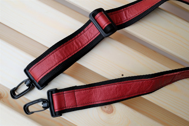 Red strapleather strapsleather replacementcrossbody image 0