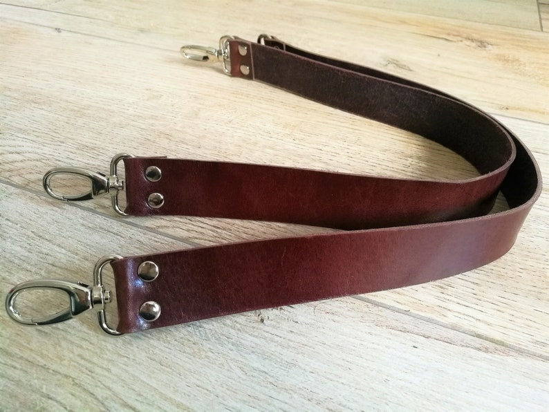 Leather strapsset of strapsleather purse strapsbrown image 0