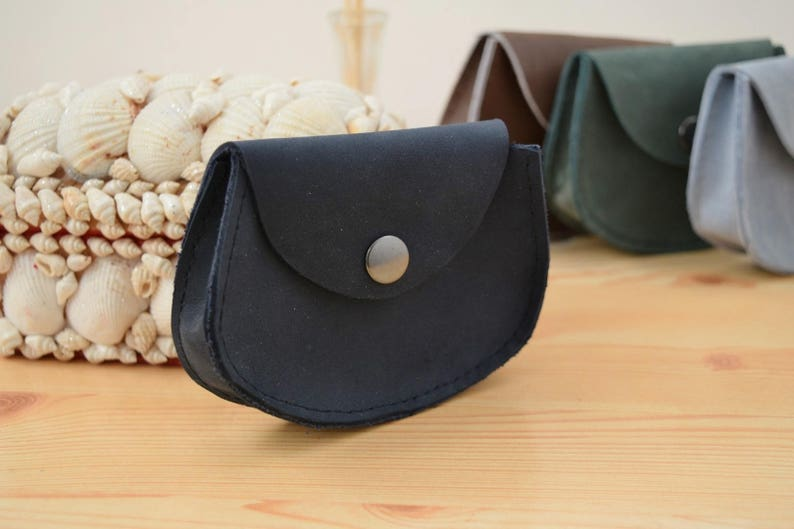 Change purseleather coin purseblue coin pursepocket coin image 0