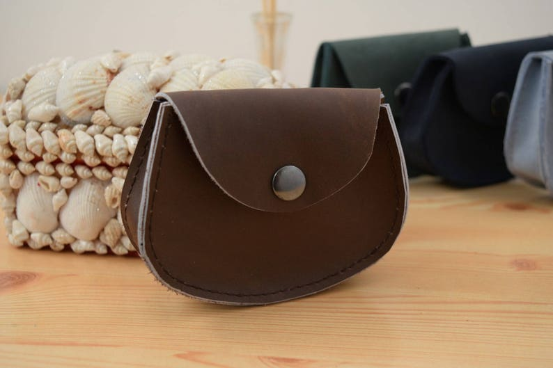 Change purseleather coin pursebrown coin pursepocket coin image 0