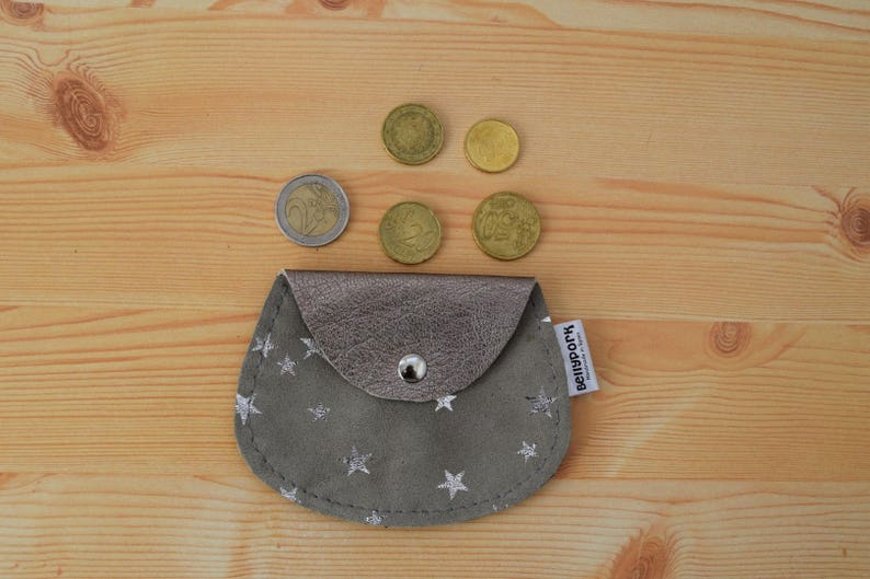 Leather coin pursestars coin purseleather change pursesuede image 0