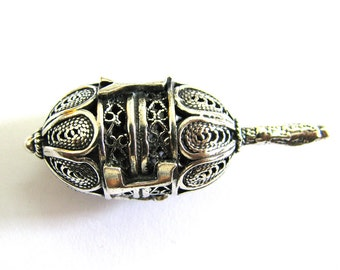 Dreidel, Hanukkah Game, 925 Sterling Silver, Handmade Gift, Filigree, Handmade, Judaica, Jewish, Hanukkah Dreidel, Silver Dreidel, ID933