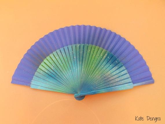 Purple Sea Glitter Hand Fan