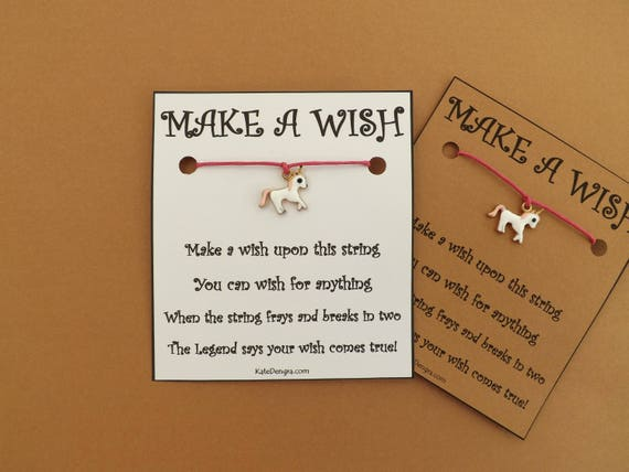 Pink Unicorn Enamel Magical Wish Bracelet